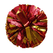 Voberry Metallic Foil And Plastic Ring Handheld Pom Poms Cheerleading Sports Party Decor