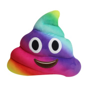 Rainbow Poop Emoji Emoticon Cushion Pillow Cute Decorative Stuffed Plush Toy Doll Gift for Kid Party