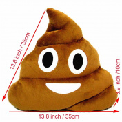 Poop Emoji Emoticon Cushion Pillow Cute Decorative Stuffed Plush Toy Doll Gift for Kids Party Brown