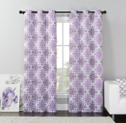 VCNY Home Purple Rye Mosaic Blackout Grommet Top Window Curtain Panel, Multiple Sizes Available