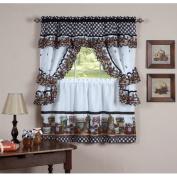 August Grove Guimauve Mason Jar Cottage Kitchen Window Treatment Set