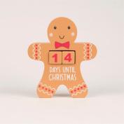 GINGERBREAD MAN ADVENT CALENDAR CHRISTMAS COUNTDOWN BLOCK
