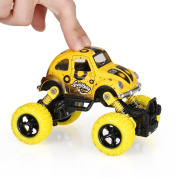 Goolsky Classic Pull Back Car 1/36 Alloy 4WD Big Wheels Shock Resistant Off Road Climbing Car 2 Doors Open Pull Back Vehicle Toy Truck