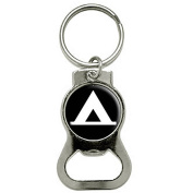 Camping Tent Outdoors Bottle Cap Opener Keychain Ring