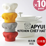 The present that I catch it, and a pan cover has a cute APYUI KITCHEN CHEF HAT [Yawata formation]