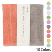 Product made in dream bincho charcoal colour-matching dishcloth Japan of the mosquito net JAN