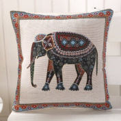 Baozengry The Elephant Pillow Cotton Sofa Cushion Bed Pillow Pillow,45*45Cm Contains Pillow,Lace India Elephant