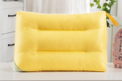 Children pillow, washed / cotton / soft and comfortable / solid colour / single only 28x48cm
