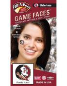 Florida State (FSU) Seminoles – Waterless Peel & Stick Temporary Spirit Tattoos – 4-Piece – Native-American Head Circle Logo