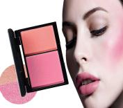 Face Powder Blush Cheek Contouring Blusher Makeup Waterproof 2 Colour Cheek Glow Blendable Blush Cosmetics Makeup
