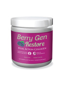 Berry Gen Restore (1) Dual Action COLLAGEN, Grass-Fed Collagen Peptides, Great Tasting, Easy to Mix Powder