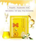 Dr.Morita Hydrating Propolis Facial Sheet Mask for Repairing Skin Cell Waken Fine Lines Wrinkles and Anti-ageing 8Pcs