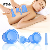 [FDA ]Massage Cupping Cups, Anti Cellulite Vacuum Cups Set Silicone Therapy Cupping Cups, Suction Cup Body Massage, Cupping Massage Kit 4PCS for Face Legs