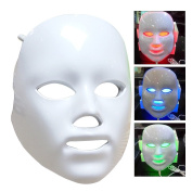 Frcolor LED Photon Therapy Face Mask 3 Colours Light Skin Treatment Care Rejuvenation Facial Whitening Instruments USB Powered