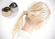 SMILCO 2PCS Antique Retro Rope Ponytail Holders Headband Metal round hoop Women Girl Hair Pin Hair Clip