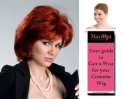 Sharon Rocker Wife Colour Auburn - Enigma Wigs Women's Osbourne Ozzy Sassy Talk Bundle with Wig Cap, MaxWigs Costume Wig Care Guide