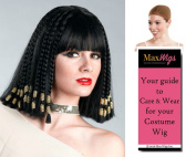 Egyptian Queen Cleopatra Colour Black - Enigma Wigs Women's Nefertiti Braided Ptolemaic Bundle with Wig Cap, MaxWigs Costume Wig Care Guide