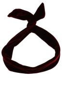 Zac's Alter Ego Women's Plain Velvet Wire Headband Approx. 78Cm X 3.5Cm Burgundy