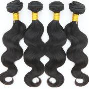 . Human Hair Bundles Body Wave Peruvian Virgin Hair 4 Bundles Full Head 7A Grade #1B Colour 8-30Inches