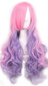 Women's Pink Ombre Cosplay Wig Long Curly Hair Heat Resistant Fibre Wigs Harajuku Lolita Sweet Style- QHQ-ShiningLife wig001PK