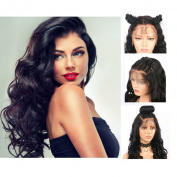 Fureya Hair Loose Wave Synthetic Lace Front Wigs for Woman with Baby Hair Heat Resistant Fibre Wig Natural Black Colour