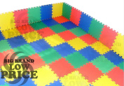 FB FunkyBuys® Kids Floor Mat 50pc Multicolor Exercise EVA Foam Mat Solid Kids Play Area Puzzle Tiles