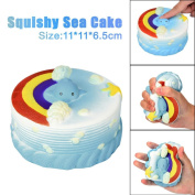 11CM Sea Cake Cream Squeeze Toy Squishy Slow Rising Decompression Squeeze Toys