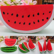 GlobalDeal Direct Slow Rising Squishy Jumbo Watermelon Slice Fruit Squeeze Toy Stress Relief Gift