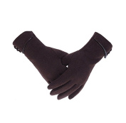 Beiersi Elegant Womens Winter Warm Gloves Touch Screen Phone Windproof Lined Thick Gloves