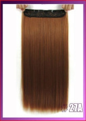 "24""(60cm) 120g straiht clip in hair extensions synthetic hair pieces accessories colour"