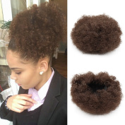 Synthetic Curly Wave Hair Clip In Ponytail Short Afro Kinky Curly Wrap Synthetic Drawstring Puff Ponytail Hair Extensions Wig For African American