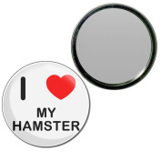 I Love My Hamster - 55mm Round Compact Mirror
