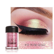 Pro Makeup Glitter Eyeshadow Shimmer Pigment Loose Powder Beauty Makeup Nude Eye Shadow Rose Gold