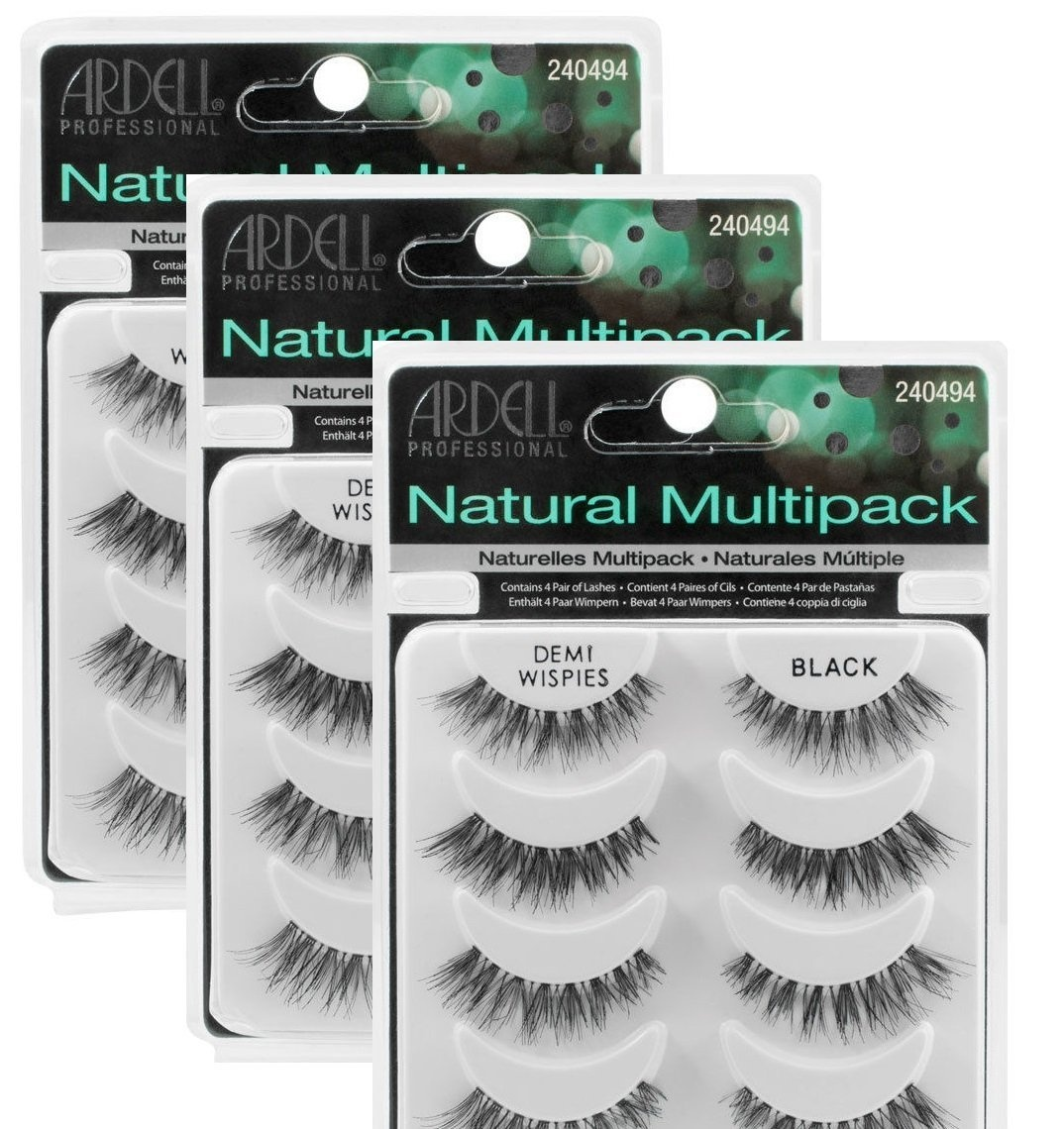 5e7338752a7 3 Pack) ARDELL Professional Natural Multipack - Demi Wispies Black ...