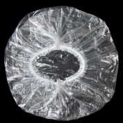 Disposable Shower Caps,Hair Processing Clear Plastic Caps For Spa,Home Use,Hotel and Hair Salon,Pack of 100