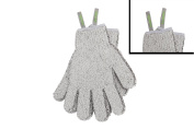Bodylife Grey Carbonised Bamboo Exfoliating Gloves With Hanging Strap