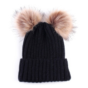 Loveble Baby Pom Pom Warm Knitted Hat Kids Winter Snowboard Hat Age 0-3 Years