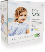 Naty by Nature Babycare Unscented Sensitive Eco Wipes, 3 x 56 Wipes
