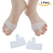Sumifun 1 Pair Bunion Pad Hallux Valgus Relief Gel Soft Big Toe Separators, Bunion Splint Spacer Corrector Foot Care Tools