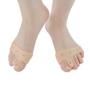 Sumifun 1 Pair Bunion Pad Silica Gel Soft Big Toe Separators, Bunion Splint Spacer Corrector Hallux Valgus Foot Pain Relief Foot Care Tools