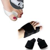 Aptoco 4PCS Hallux Valgus Protector Bunion Corrector Toes Splint Pain Relief Toe Corrector