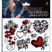 MZP Temporary Tattoos Back Body Romantic Series 3D Rose Waterproof Tattoos Stickers Non Toxic Glitter Large Fake Tattoo Halloween Gift 22*15cm