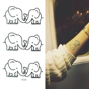 MZP 2016 New Painting Waterproof Temporary Elephant Tattoo Paste,3PCS