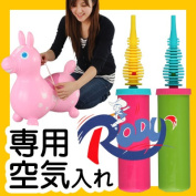 I put RODY rody Japanese regular article hand pump air pump inflator air and blow up a pump air pump magazine publication regular article and blow it up, and the child of the woman is dressed up
