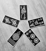 5pc Eternity BODY, Legs, Arms, Back, Shoulders, Chest, Indian Arabian Tattoo Reusable Stencils Stickers To Draw Around By LAMINAU