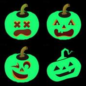 VENI MASEE Halloween Luminous Temporary Tattoo Sticker for Body Makeup/Cosplay