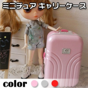 Miniature suitcase travel bag travel 1 / 6 doll for scale small Bryce diorama doll doll