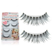LUFA 5 Pairs Fake Eyelashes Pure Natual Handmade Eyelashes Cross Long Makeup Fake False Eyelashes Black