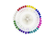 40 Pieces Multi Coloured Berry or Pearl Head Pins