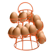 CrazyGadget® Orange Coloured Helter Skelter Egg Basket Wire Spiral Egg Run Storage Holder Stand Display Retro Vintage Style Egg Display with Carry Handle Holds up to 12 eggs. Wide selection with 11 colours to choose from.